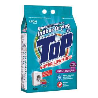 Top Detergent Powder Packet Super Low Suds - Anti-Bacterial