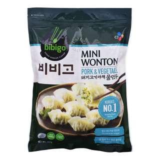 CJ Bibigo Frozen Wontons - Pork & Vegetables