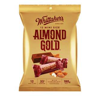 Whittaker's Mini Milk Chocolate Bar - Almond Gold