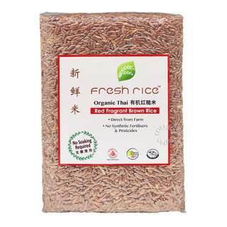 Fresh Rice is certified by the Organic Agriculture Certification Thailand and the International Federation of Organic Agriculture Movements (IFOAM)