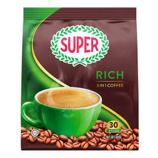 Super 3 in 1 Instant Coffee - Low Fat (Rich)