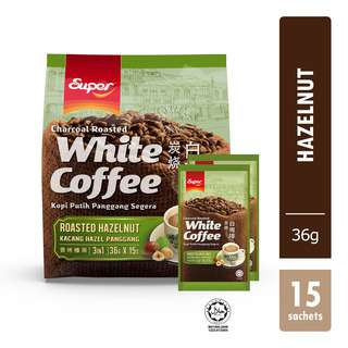 Super 3 in 1 Instant Charcoal Roasted White Coffee - Hazelnut