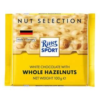 Ritter Sport Chocolate - White Whole Hazelnuts