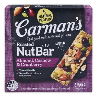 Carman's Nut Bars - Almond with Cashew & Cranberry