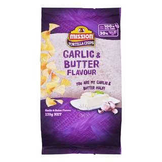 Mission Tortilla Chips - Garlic & Butter