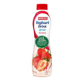 <p>Marigold 0% fat yoghurt drink combines the refreshing taste of real fruit juice with the silky smooth goodness of yoghurt. When you feel good, you&rsquo;ll look good too.</p>
