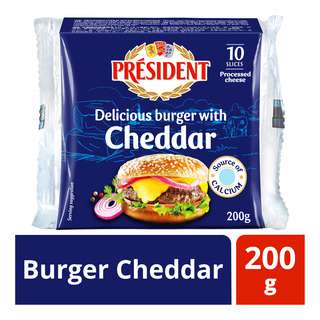 President Cheese Slices - Burger Cheddar