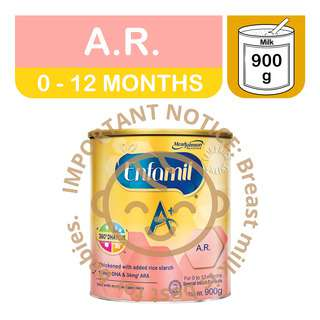 Enfamil A+ Infant Milk Powder Formula - A.R. (0 - 12 Months)