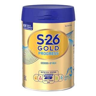 Wyeth S26 Progress Gold Grow Up Milk Formula - Stage 3