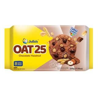 Julie's Oat 25 Cookies - Hazelnuts & Chocolate Chips