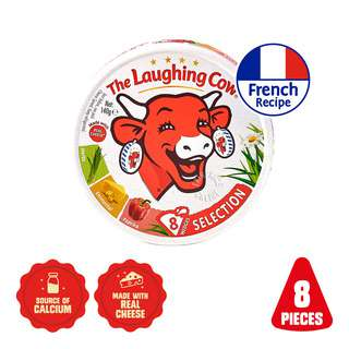 The Laughing Cow® was founded in France 100 years ago. Proudly, it was the first cheese spread to be individually served in foil sealed portions to stay fresher for longer. Since 1921, The Laughing Cow® has been bringing laughter to meals and snacking moments with its deliciously creamy cheese. Enjoy The Laughing Cow® straight from the pack, spread it, dip it, cook it, bake it, or get creative in the kitchen with our delicious snack ideas. Embrace life's laughable moments with a snack that does the same. Because it's better to laugh.