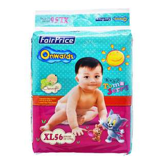 FairPrice Onwards Baby Diapers - XL (12 - 17kg)