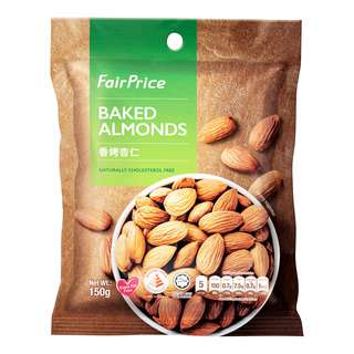 FairPrice Baked Almonds are sourced from the best origins and carefully selected to bring you a wholesome snacking experience. Perfect on tis own or as an addition to a favourite baking recipe, it is high in dietary fibre and naturally cholesterol free, making it the ideal choice for you and your family