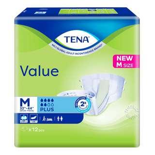 TENA Value Unisex Adult Diapers - M (81 - 112cm)
