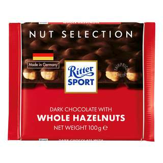 Ritter Sport Chocolate - Dark Whole Hazelnuts