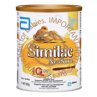 Abbott Similac NeoSure Special Infant Milk Formula - Stage 1