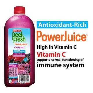 Marigold Peel Fresh Bottle Juice - Powerberries (No Sugar)