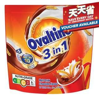 Ovaltine 3 in 1 Instant Malt Drink Sachets - Chocolate
