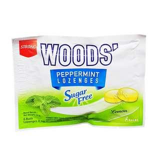 Woods' Peppermint Sugar Free Lozenges - Lemon