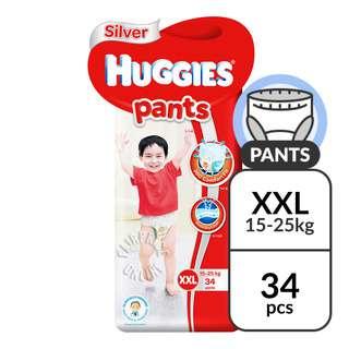 Huggies Baby Diaper Silver Pants - XXL (15 - 25kg)