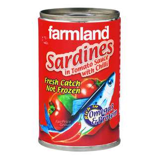 <p>Farmland Sardines are canned from the freshly caught sardines, from the Western Pacific Ocean Area. Freshly canned sardines give better taste and flavour than frozen sardines.</p>
