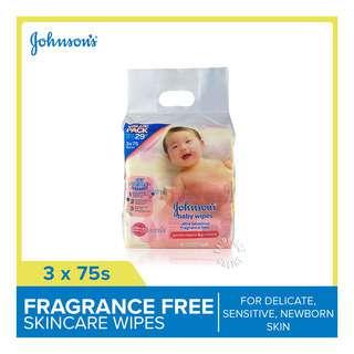 Johnson's Baby Wipes - Fragrance Free
