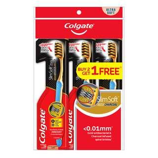 Colgate Slim Soft Toothbrush - Gold Charcoal