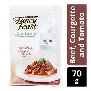 Fancy Feast Inspirations Cat Food - Beef, Courgette and Tomato