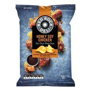 Red Rock Deli Style Potato Chips - Honey Soy Chicken