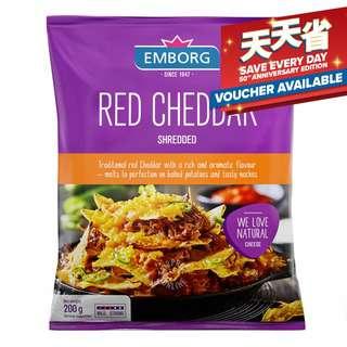 Emborg Shredded Cheese - Red Cheddar