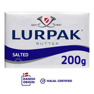 LURPAK® Salted Butter Block In Foil is perfect for baking all kinds of creations, cakes, cookies, bread, pastries as well as taking your frying game up to a whole new level for Asian & Western dishes. Add in LURPAK® Salted Butter for that buttery taste and aroma when you cook pastas, steaks, or stir-fry eggs.