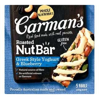 Carman's Nut Bars - Greek Style Yoghurt & Blueberry