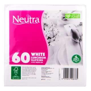 Neutra White Napkins - Luncheon (30 x 30cm)