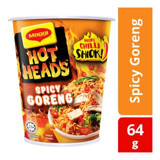 Maggi Hot Heads Instant Cup Noodles - Spicy Goreng