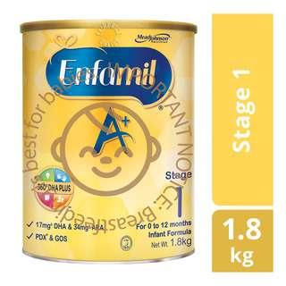 Enfamil A+ Infant Milk Powder Formula - Stage 1