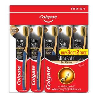Colgate Slim Soft Toothbrush -GoldCharcoal(Ultra Soft)
