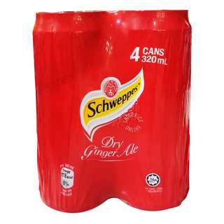 Schweppes Carbonated Can Drink - Dry Ginger Ale