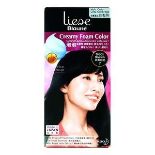 Liese Blaune Creamy Foam Hair Colour - Black Brown (7)