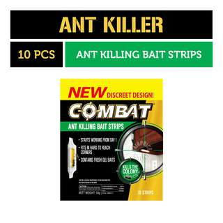 Combat Ant Killing Bait Strips with new discreet design, kills fast and easy to use