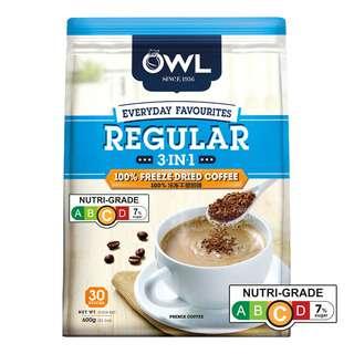 Owl 3 in 1 Instant Coffee - Regular
