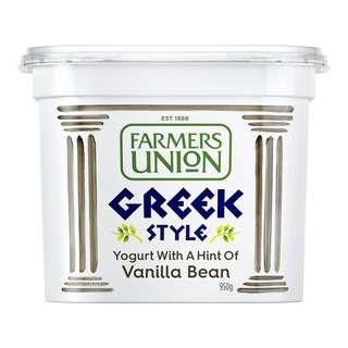 Farmers Union Greek Style Yoghurt - Vanilla Bean