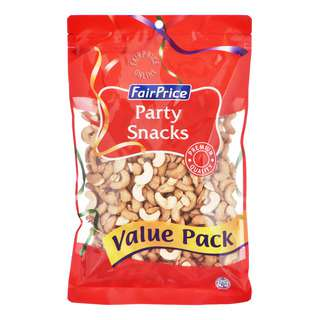 FairPrice Party Snacks - Roasted Cashews (Unsalted)