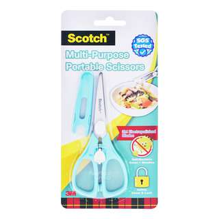 3M Scotch Portable Food Scissors with Cover - Teal