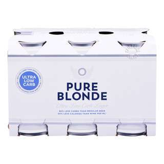 Pure Blonde Lager Can Beer - Ultra Low Carbs