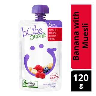 Organic Bubs Baby Food - Berry & Banana with Muesli