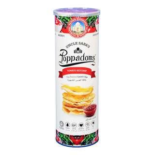 Uncle Saba's Poppadoms Lentil Chip - Tomato Ketchup
