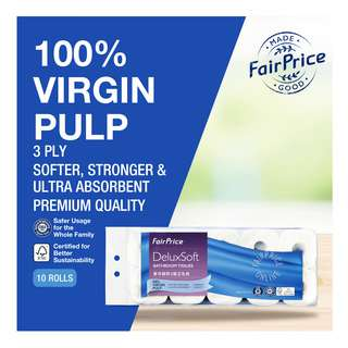 FairPrice DeluxSoft Bathroom Tissue (3ply)