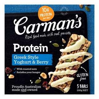 Carman's Gourmet Protein Bars - Greek Style Yoghurt & Berry