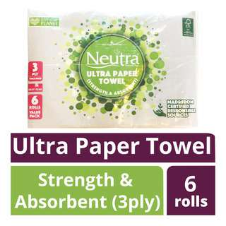 Neutra Ultra Paper Towel - Strength & Absorbent (3ply)