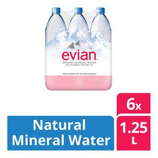 Evian Natural Mineral Bottle Water